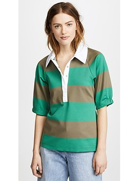 Rugby Polo Top by Tibi