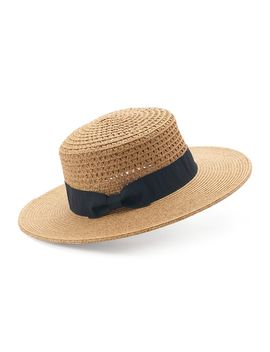 Women's Sonoma Goods For Life™ Woven Boater Hat With Grosgrain Band by Kohl's