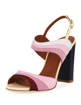 Anita Colorblock Halter Sandal by Malone Souliers