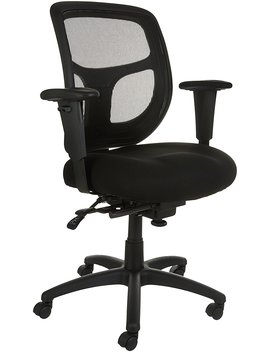 Amazon Basics Mesh Fabric Executive Mid Back Chair, Black by Amazon Basics