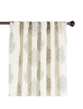 Rambagh Paisley Gray Curtain by Pier1 Imports