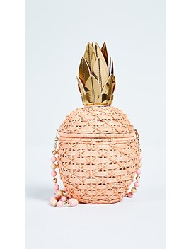 Pineapple Wicker Clutch by Serpui Marie