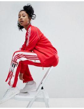 Adidas Originals Adicolor Three Stripe Track Jacket & Popper Pants In Red by Asos