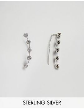 Kingsley Ryan Sterling Silver Diamante Ear Climber by Kingsley Ryan
