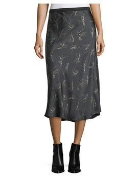 Spring Floral Midi Slip Skirt by Vince