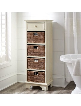 Tall Antique White Cabinet by Holtom Collection