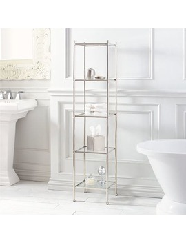 Luxe 5 Tier Polished Nickel Shelf by Pier1 Imports