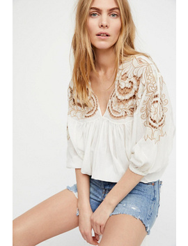 Cutwork Dolman Blouse by Free People