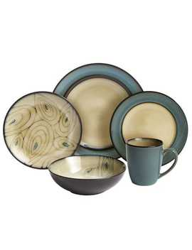Teal Reactive Rim Dinnerware by Pier1 Imports