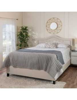 Lucca Ivory Upholstered Queen Bed by Pier1 Imports