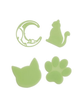 glow-in-the-dark-kitty-stickers by hot-topic