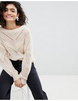 Selected Open Weave Knitted Jumper by Selected