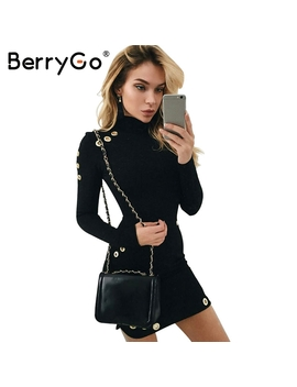 Berry Go Sexy Hollow Out Hole Bodycon Dress Women Slim Long Sleeve Black Dress Elegant Party Short Dress Vestidos De Fiesta by Berry Go Offical Store