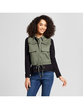 Women's Cropped Military Vest   A New Day™ : Target by Target