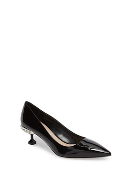 Crystal Heel Pump by Miu Miu