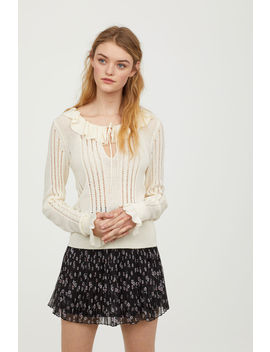 Flounced Knit Sweater by H&M