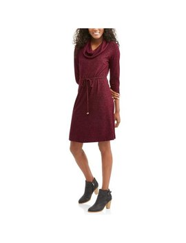 Allison Brittney Women's Cowl Neck Flare Dress by Allison Brittney