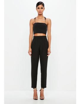 Peace + Love Black Tapered Trousers by Missguided