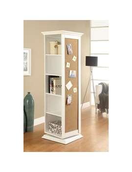 Coaster Company White Swivel Cork Board Storage Cabinet by Coaster