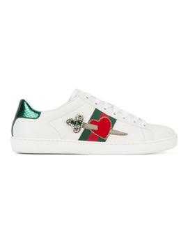 Gucci Women's  White Leather Sneakers by Gucci