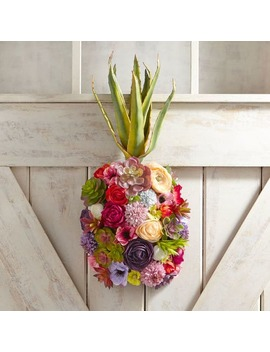 Faux Floral Pineapple Door Decor &Amp; Wreath by Pier1 Imports