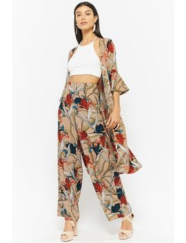 Floral Jacket & Pants Set by Forever 21