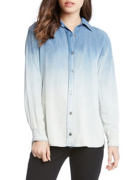 Ombré Chambray Shirt by Karen Kane