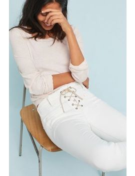 Mc Guire Isabeli Mid Rise Lace Up Skinny Jeans by Mc Guire