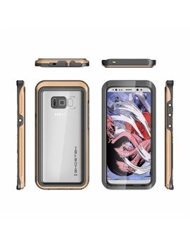 Atomic Protective Water Resistant Case For Samsung Galaxy S8   Clear/Gold by Ghostek