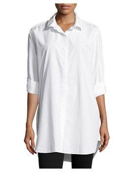 The Oversized Shirt, White by Neiman Marcus