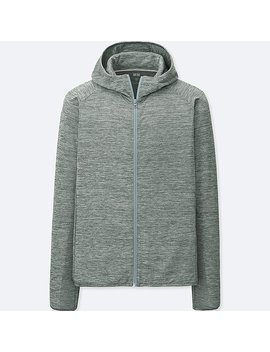 Men Dry Ex Long Sleeve Full Zip Hoodie by Uniqlo