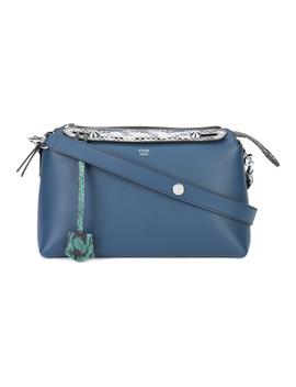 Fendi Women's  Blue Leather Shoulder Bag by Fendi