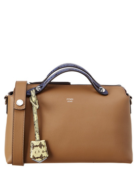Fendi By The Way Regular Leather Boston Bag by Fendi