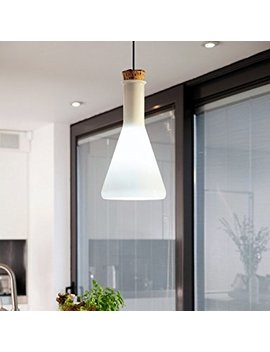 Lightinthebox 60w Contemporary Pendant Light With Glass Shade In Flask Design, Modern Home Ceiling Light Fixture Flush Mount, Pendant Light Chandeliers Lighting by Light In The Box