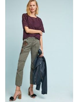 Embroidered Wanderer Utility Trousers by Anthropologie