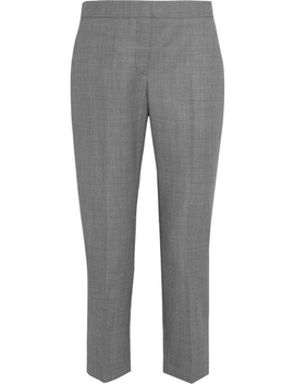 Wool Jacquard Straight Leg Pants by Alexander Mc Queen