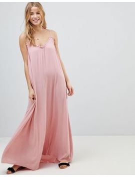 Asos Scoop Back Maxi Dress In Crinkle by Asos Collection