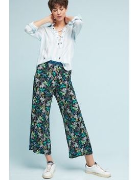 Rousseau Printed Wide Leg Trousers by Anthropologie