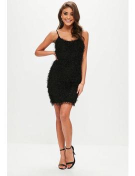 Black Fringe Mini Dress by Missguided