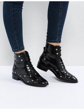 Кожаные ботинки на шнуровке Asos Axis by Asos