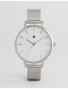 Asos Tonal Silver Mesh Watch by Asos Design