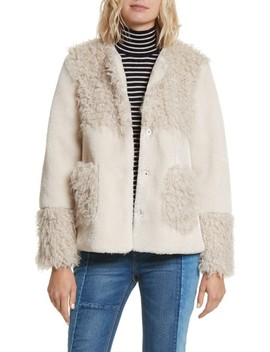 Mixed Faux Fur Coat by La Vie Rebecca Taylor