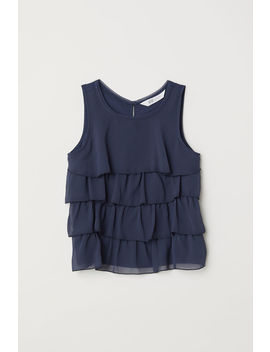 Tiered Chiffon Top by H&M