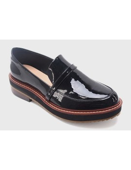 Women's Justine Patent Platform Loafers   Who What Wear™ by Who What Wear