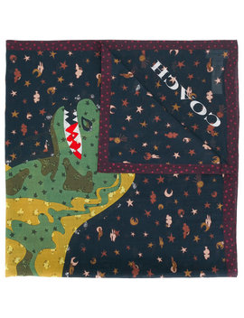 Dinosaur Patterned Scarf by Coach Saint Laurent Coach Saint Laurent Coach Saint Laurent Coach