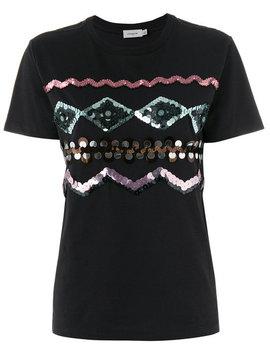 Zigzag Embellished T Shirt by Coach Saint Laurent Coach Saint Laurent Coach Saint Laurent Coach