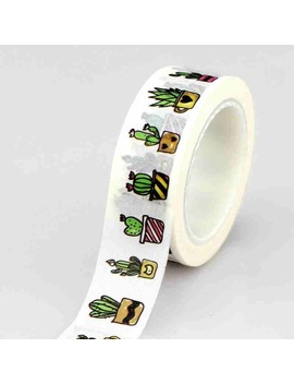 10 M Roll Succulent Cactus Washi Tape Scrapbooking Tools Cute Cinta Adhesiva Decorativa Masking Tape Japanese Office Stationery by China Wholesale Washi Tape Store