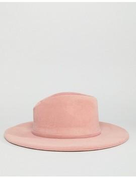 Glamorous Pink Felt Fedora Hat by Glamorous