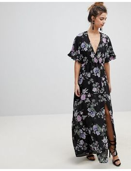 Oh My Love Kimono Sleeve Maxi Dress by Oh My Love