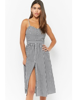 Gingham Cami Dress by F21 Contemporary